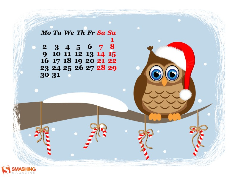 Тапети с календари - Коледно издание 1